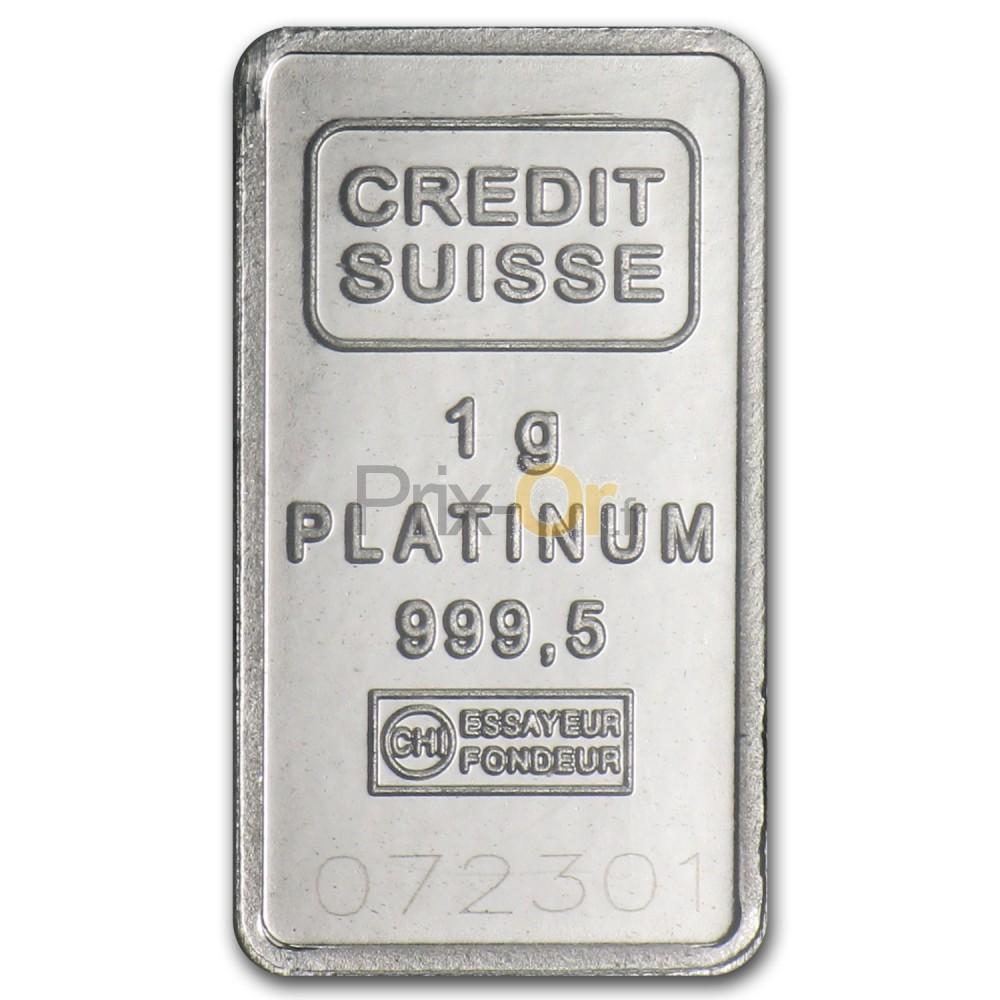 1 gramme lingot de platine | prix d'un lingot de platine | comparer