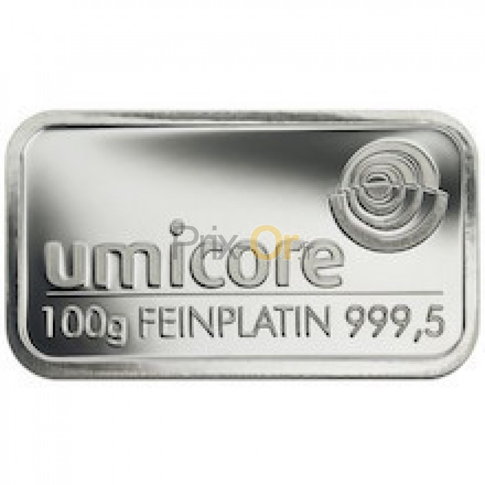 100 grammes lingot de platine | prix d'un lingot de platine