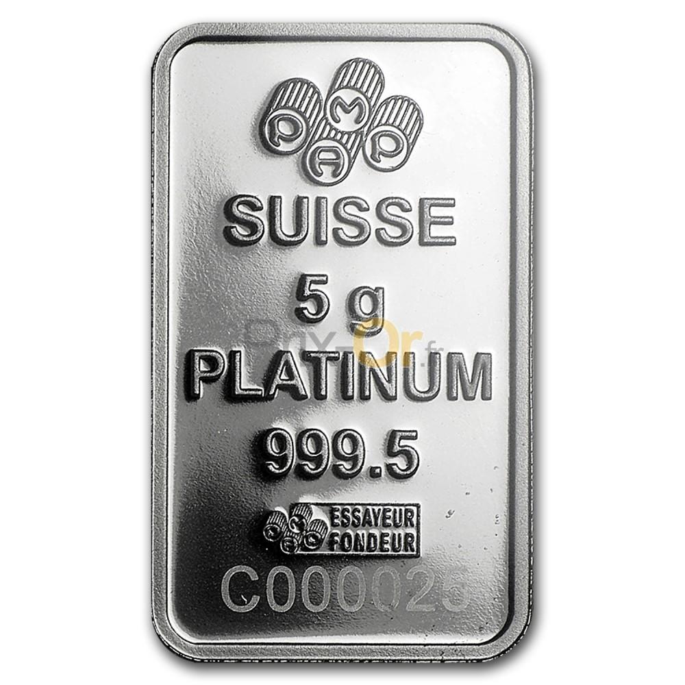 5 grammes lingot de platine | prix d'un lingot de platine | comparer